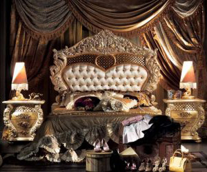 elegant gold brown european luxury bed