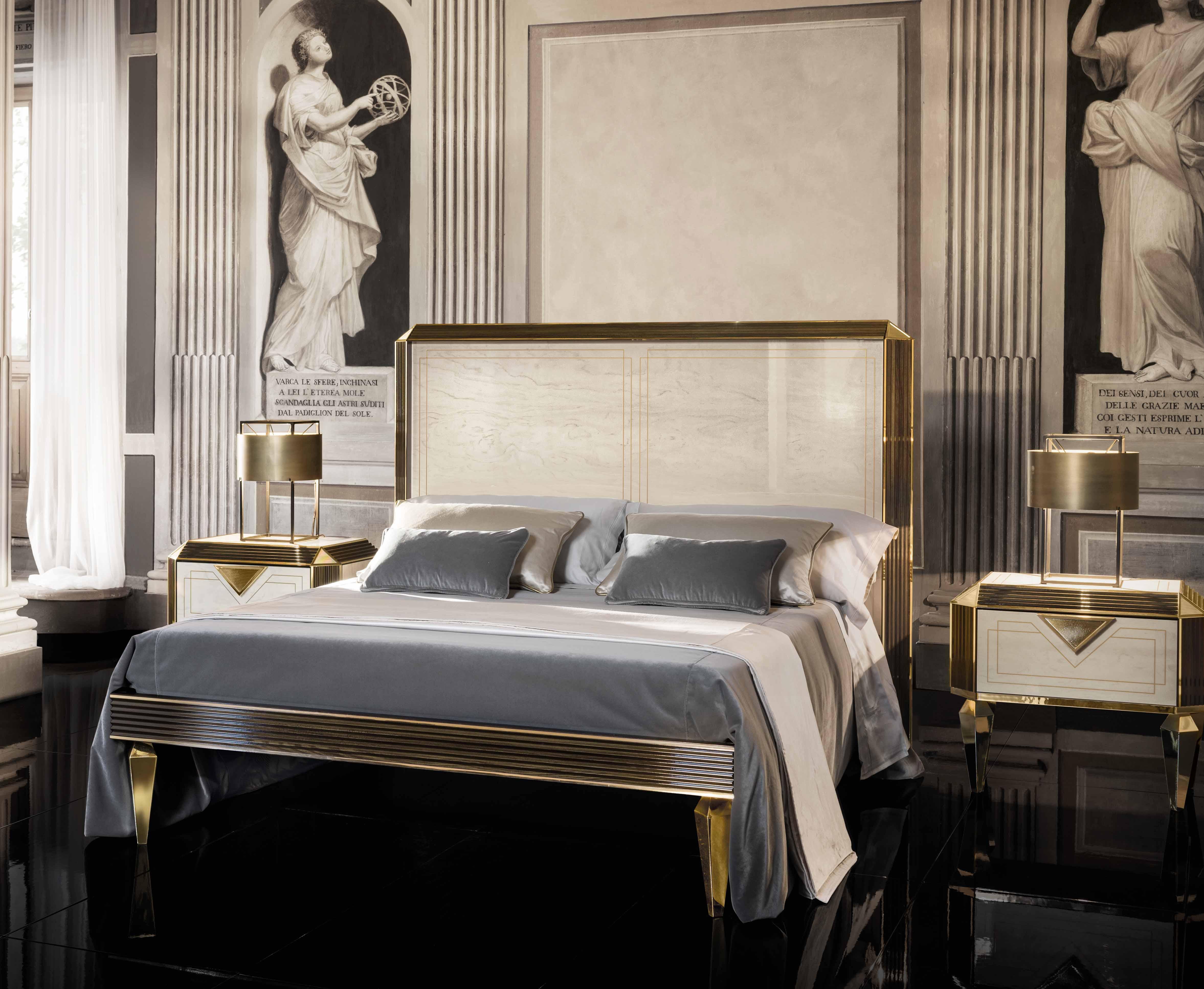 Bedombouw 180 200.Diamante Bed King Size Cm 180 200 X 200 Milano Italian Furniture
