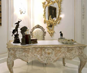 marble european style home office luxury desk