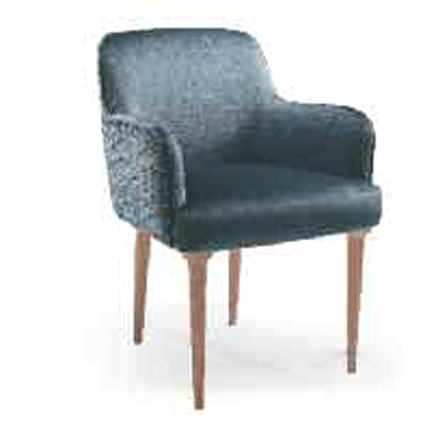 W01DC.W Arm chair with wooden legs