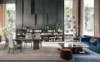 athena contemporary living room set